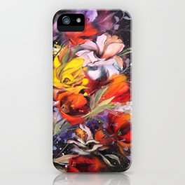 Black Blossom iPhone Case