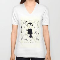 orchid V-neck T-shirts featuring orchid by Yeize Studio_Seize The Day!