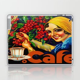Vintage Brazil Coffee Ad Laptop & iPad Skin