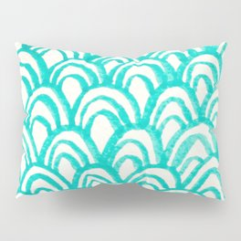 Minty Scales of the Sea Pillow Sham
