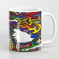techno Mugs featuring Rainbow Techno by Madison R. Leavelle
