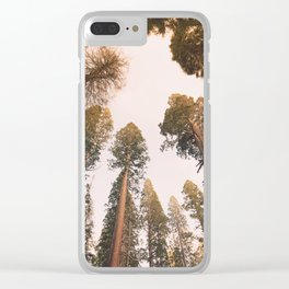 Sequoia Sunset Clear iPhone Case
