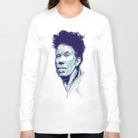 tom waits Long Sleeve T-shirts featuring Tom Waits Portrait by Brian Yap