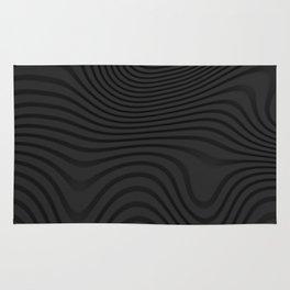 Organic Abstract 02 BLACK Rug