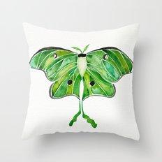 Luna Moth Throw Pillow