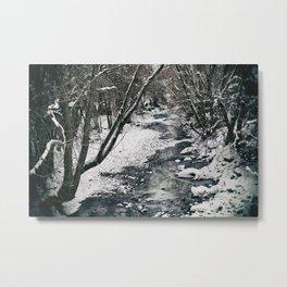 A Winter River Metal Print
