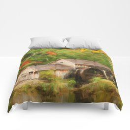 Mabry Mill Autumn Comforters