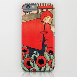 john hassall vintage english poster - Little red riding hood iPhone Case