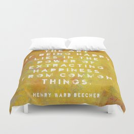 The Art of Being Happy Duvet Cover