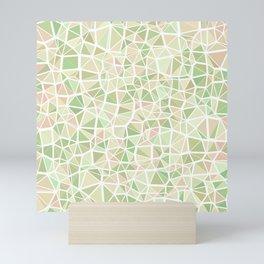 Pastel Triangles 2 Mini Art Print