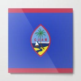 Guam flag emblem Metal Print