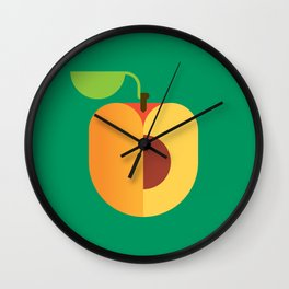 Fruit: Apricot Wall Clock