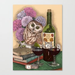 The Tipsy Owl Canvas Print