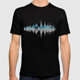 The Sounds Of Nature - Music Sound Wave T-shirt