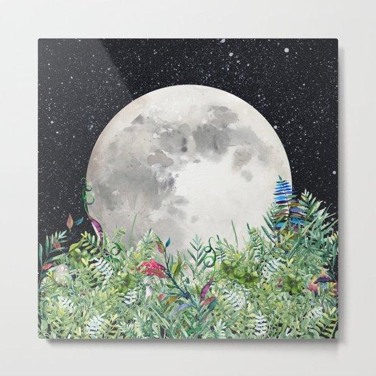 Night Garden Magick Metal Print