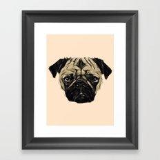 Geometric Pug Framed Art Print