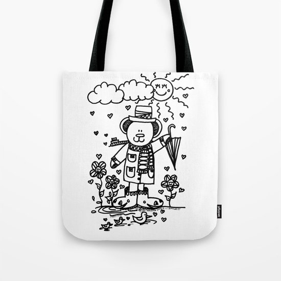 Cold Day Bear Tote Bag