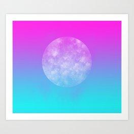 Largest Moon Art Print