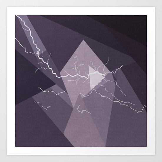 ABSTRACT STORM Art Print