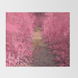 Windy Goose Creek Trail - Tickle Me Pink Throw Blanket