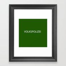 VOLKSPOLIZEI Framed Art Print