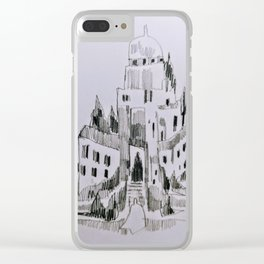 Tilted Welcomings Clear iPhone Case