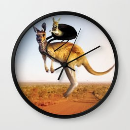 Kangooroo habits Wall Clock