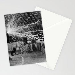 NIKOLA TESLA AT WORK Stationery Cards