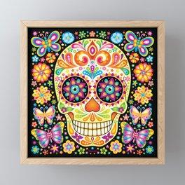 Día de Muertos Sugar Skull (Fiesta) Framed Mini Art Print