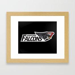 Downtown Falcons Full Logo Framed Art Print