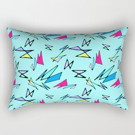 Wacky 80s//BLUE//Geo Pattern #3 Rectangular Pillow