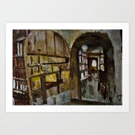 Baldwin's Book Barn interior doorway Art Print
