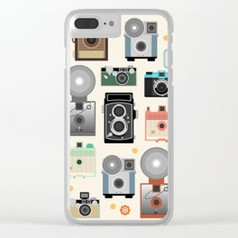 1960s Vintage Cameras Clear iPhone Case