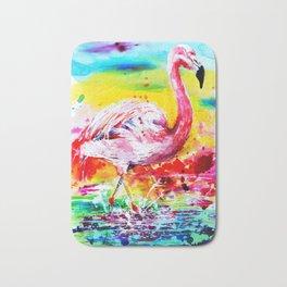 Pink Flamingo Bath Mat