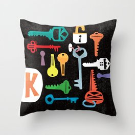 """K"" Throw Pillow"