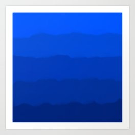 Endless Sea of Blue Art Print