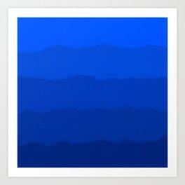 Endless Sea of Blue Art Print