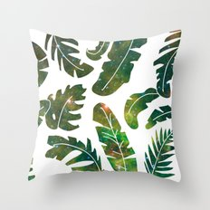 Starry Starry Leaves Throw Pillow