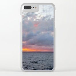 Fiery Sunset Clear iPhone Case