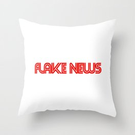 flake news Throw Pillow