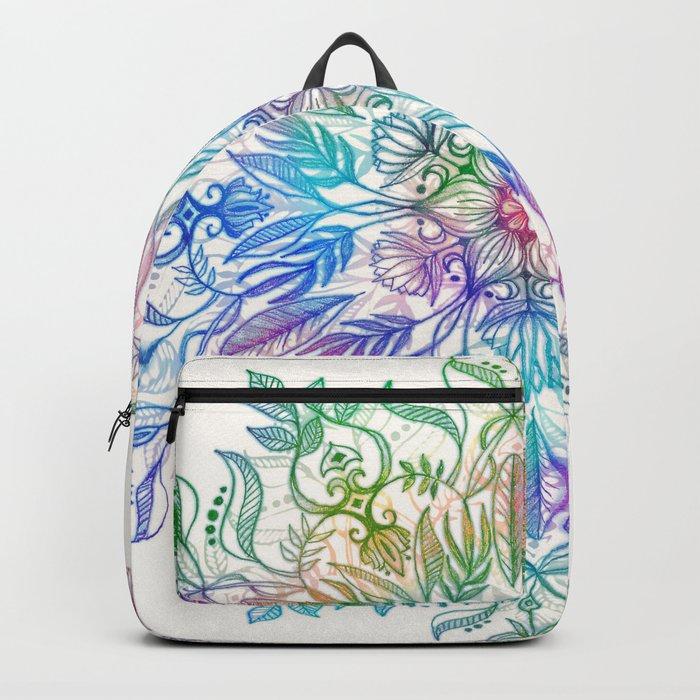 Nature Mandala in Rainbow Hues Backpack