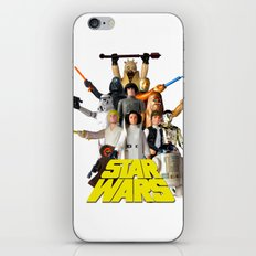 Star War Action Figures Poster - First 12 - Square iPhone & iPod Skin