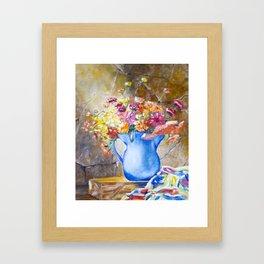 THE BLUE JUG Framed Art Print