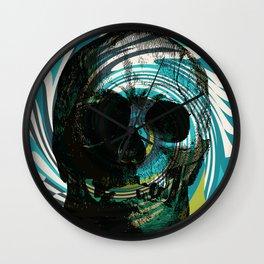 Pop Art Skull Retro 80's Wall Clock