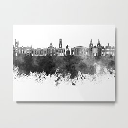 Aberdeen skyline in black watercolor Metal Print