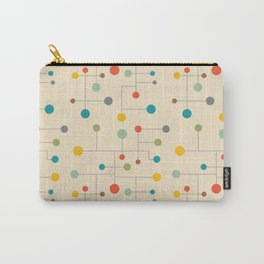 Mid-Century Dots Pattern Carry-All Pouch