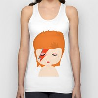david bowie Tank Tops featuring David Bowie by Creo tu mundo