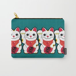 Maneki-Neko Japanese Lucky Cat Carry-All Pouch