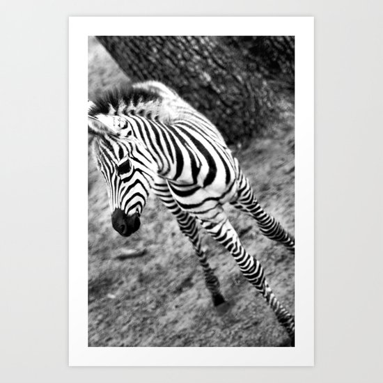 Youth In Black And White Art Print
