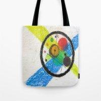 kandinsky Tote Bags featuring do it like kandinsky by Olga Kakoulidou